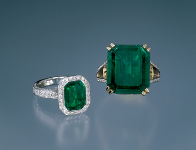 grando emerald platinum rings